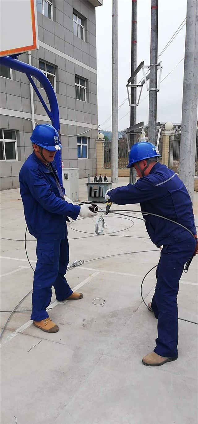 甘泉县供电分公司员工培训现场教学实地提技能